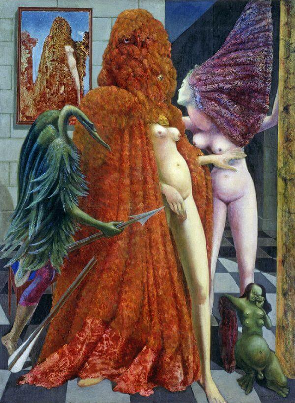 Attirement of the Bride, 1940 - by Max Ernst