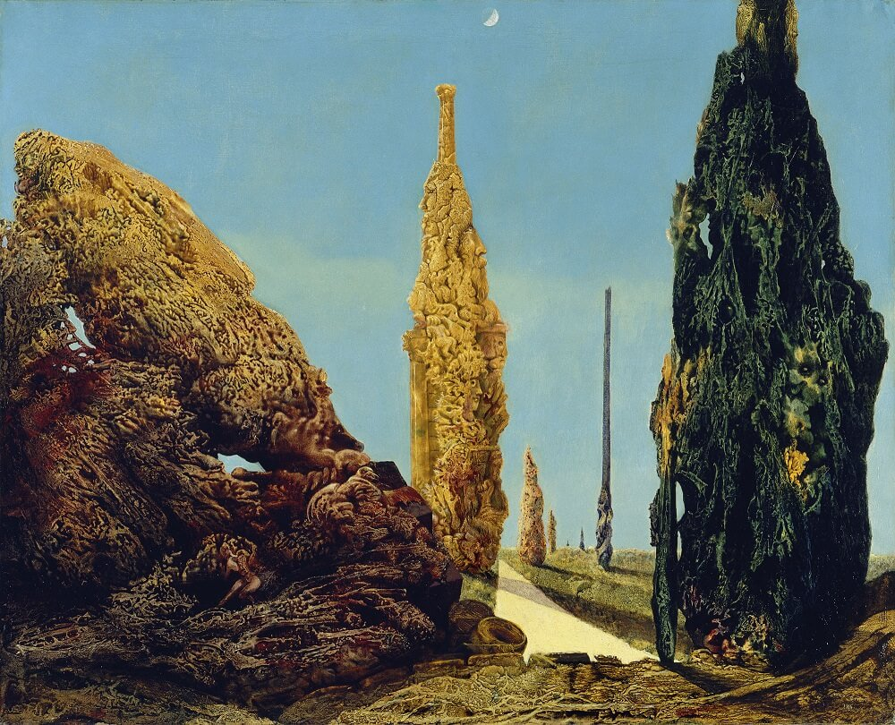 Solitary Tree and Married Trees, 1940 - by Max Ernst