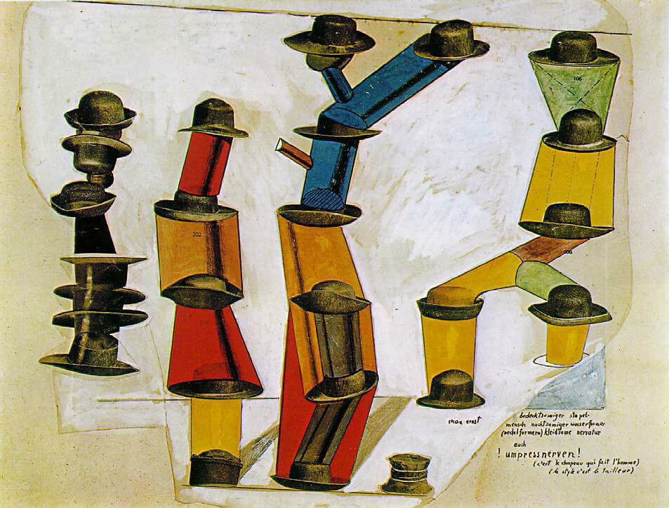 The Hat Makes the Man, 1920 - by Max Ernst