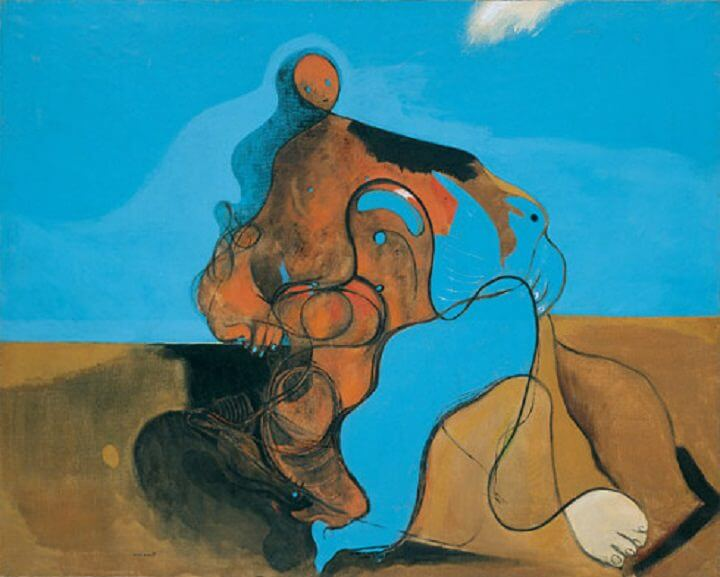 The Kiss, 1927 - by Max Ernst